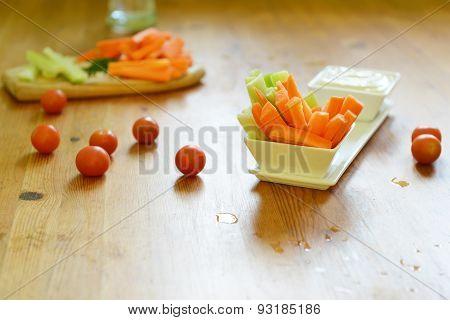 Celery Sticks And Carrot