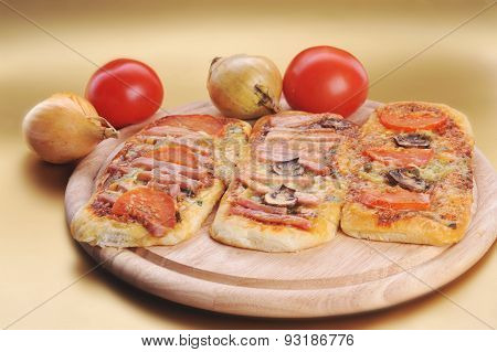 Three Small Pizzas