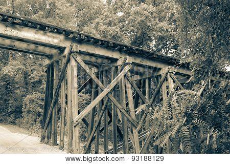 Wooden Railroad Bridge