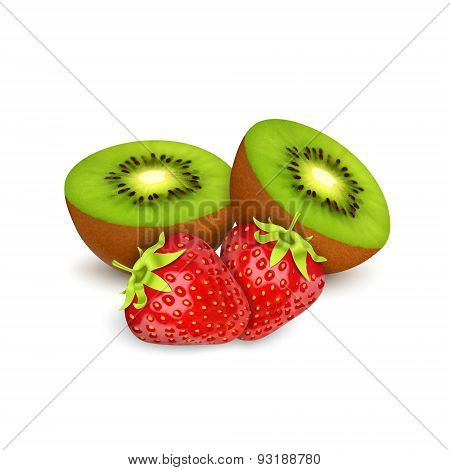Strawberries amd kiwi