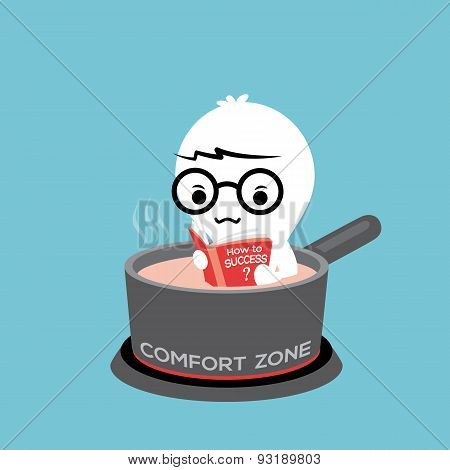 Comfort Zone Cartoon Illustration