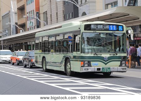 Kyoto city bus Japan