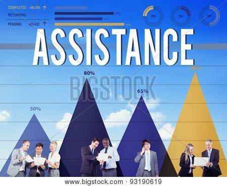 Assistance Support Organization Help Partnership Concept