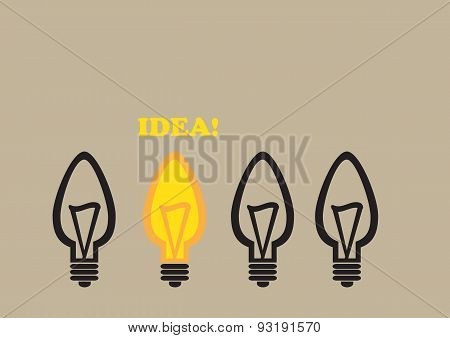 Light Bulb Idea Conceptual Vector Cartoon Illustration