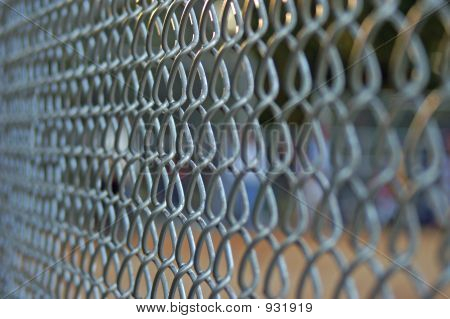 Chainlink Fence On Field