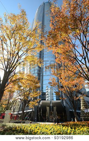 Tokyo, Japan - November 23, 2013: People Visit The Mori Tower In Roppongi Hills.