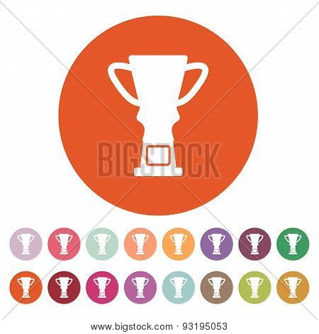 The Trophy Cup Icon. Champion Symbol. Flat