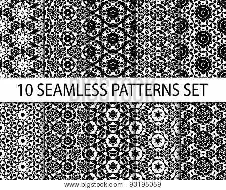 Set Of Geometric Seamless Patterns.