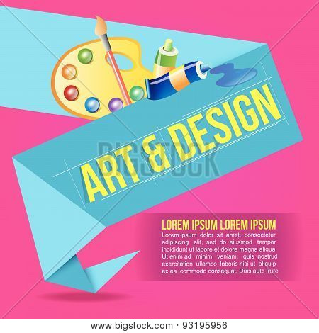 Art  and Design Origami Polygonal Shape vector background