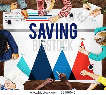 Saving Save Accounting Banking Money Finance Concept