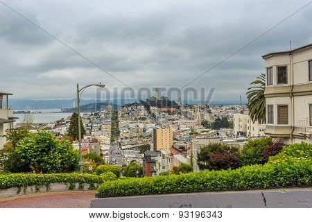 View From Lombard Street In San Francisco