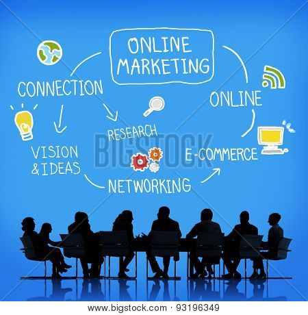 Online Marketing E-commerce Commercial Strategy Concept