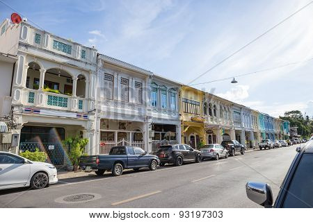 Phuket, Thailand - May 5, 2015 : Old Building Chino Portuguese Style Landmark In Phuket