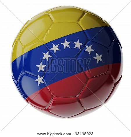 Soccer Ball. Flag Of Venezuela