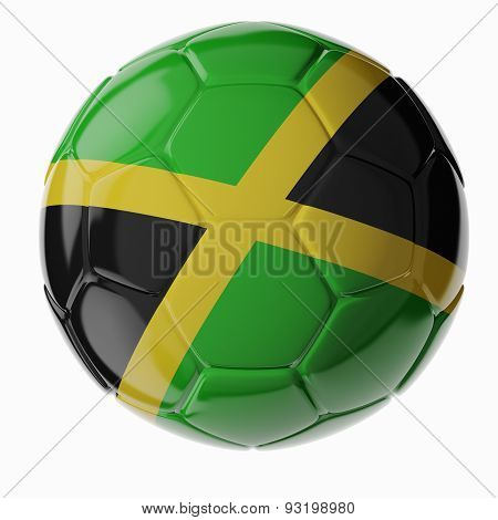 Soccer Ball. Flag Of Jamaica