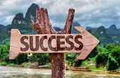 image of prosperity sign  - Success direction sign with exotic background - JPG
