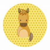 picture of chinese zodiac animals  - Chinese Zodiac Horse Theme Elements - JPG