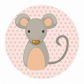 stock photo of chinese zodiac animals  - Chinese Zodiac Rat Theme Elements - JPG