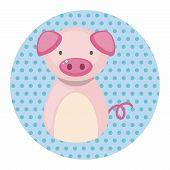 image of chinese zodiac animals  - Chinese Zodiac Pig Theme Elements - JPG
