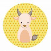 stock photo of chinese zodiac animals  - Chinese Zodiac Goat Theme Elements - JPG