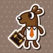 picture of kangaroo  - Animal Kangaroo Worker Cartoon Theme Elements - JPG