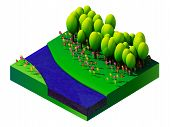 foto of isometric  - isometric nature and landscape - JPG