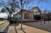 stock photo of exposition  - A greenhouse located in the Parc de la Ciutadella built for the 1888 Barcelona Universal Exposition - JPG