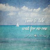 image of tide  - Inspirational Typographic Quote  - JPG