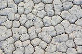 picture of mud  - Extreme Closeup Of Dry and Cracked Mud Soil in Racetrack Playa in Death valley National Park in California - JPG
