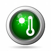 picture of fahrenheit thermometer  - Sun and thermometer icon - JPG