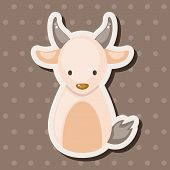 image of chinese zodiac  - Chinese Zodiac Goat Theme Elements - JPG