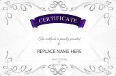 foto of certificate  - Certificate template - JPG