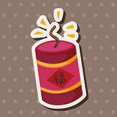 "pic of chinese crackers  - "" Wish Spring Comes"" Chinese Firecrackers Theme Elements, illustration vector eps ,color cartoon icon. - JPG"