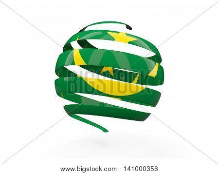 Flag Of Mauritania, Round Icon