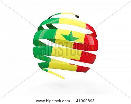 Flag Of Senegal, Round Icon