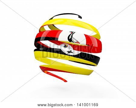 Flag Of Uganda, Round Icon