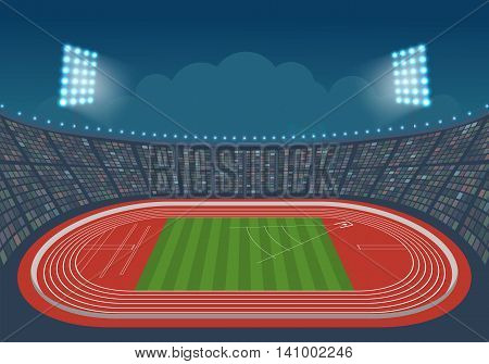 Olympic Stadium for competitions. Vector. Template design