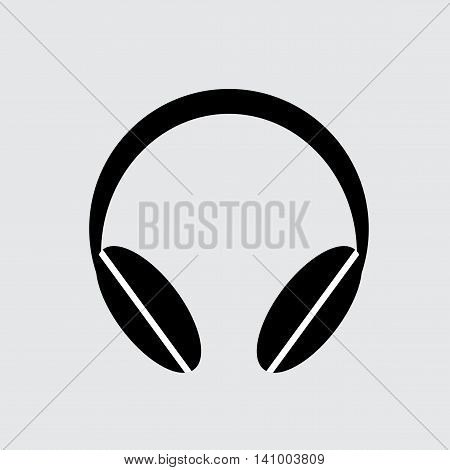 Radio headphones vector illustration. Radio headphones isolated on white background.