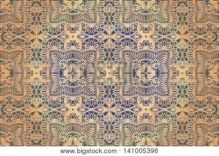 Guilloche pattern monogram openwork decoration elements Seamless texture