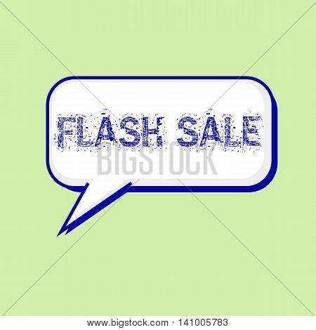 flash sale blue wording on Speech bubbles Background Green-White