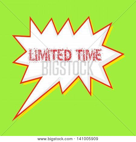 Limited time red wording on Speech bubbles Background Green-yellow