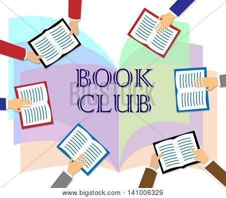 Book Club Represents Group Association And Literature