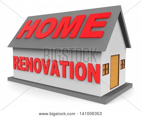 Home Renovation Shows Real Estate And House 3D Rendering