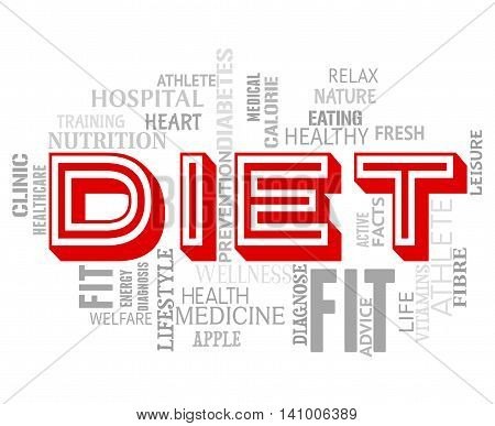 Diet Words Indicates Lose Weight And Dieting