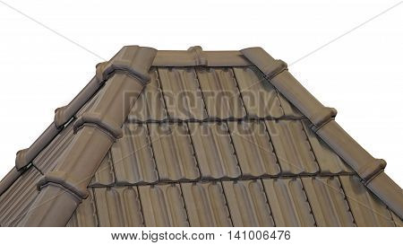 Terracotta Roof Tiles at Top of House