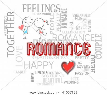 Romance Words Shows Find Love And Affection