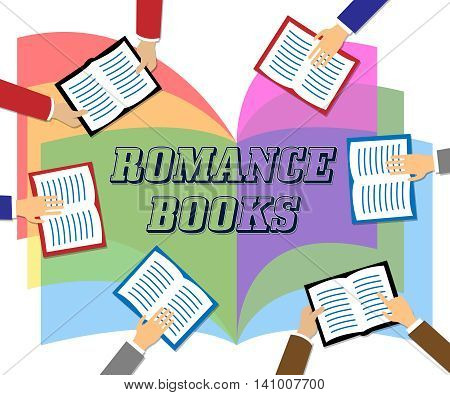 Romance Books Indicates Tenderness Boyfriend And Fiction
