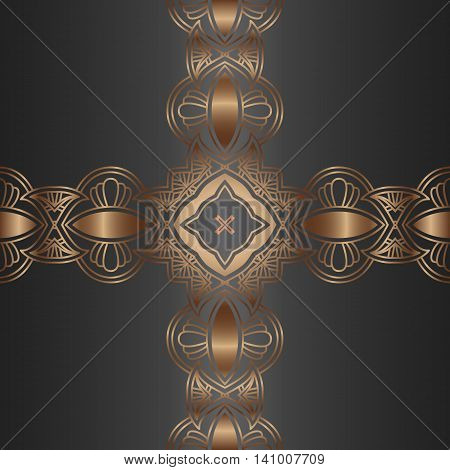 Vector vintage border frame engraving with retro ornament pattern in antique rococo style decorative design, vector