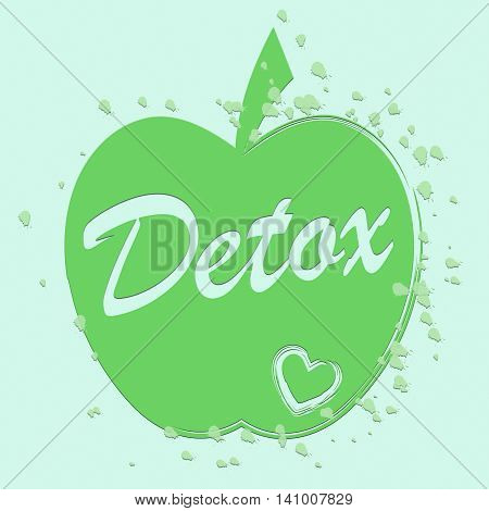 Health Detox Indicates Preventive Medicine And Apples