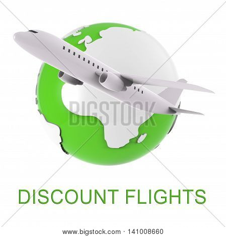 Discount Flights Shows Fly Airline And Air 3D Rendering